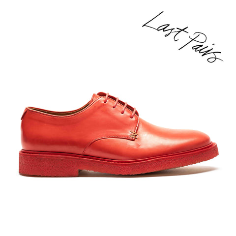 PABLO Paprika | Red Crepe Sole Derby