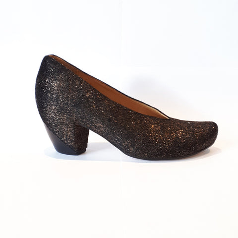 FLORA Sparkly | Shiny Pony Hair Heels