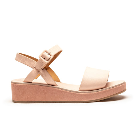 BARBARA Rose Pink Leather Sandal Wedge | Tracey Neuls