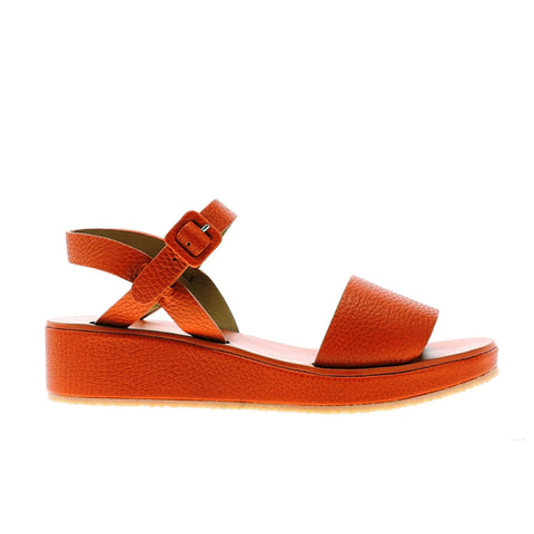 BARBARA Tangerine | Orange Leather Strap Sandals