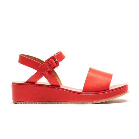 BARBARA Red | Leather Strap Sandal | Tracey Neuls