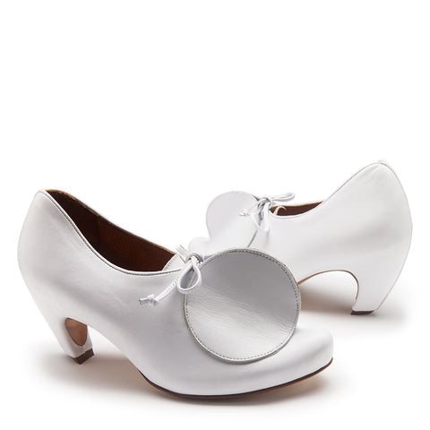 BIGTOP White | White Leather Heels | Tracey Neuls