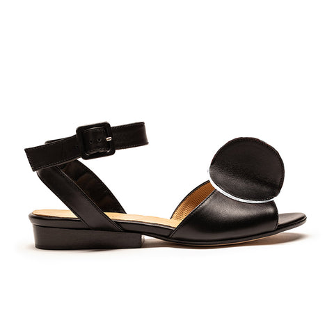 BIJOU Spectator | Black Leather Sandal