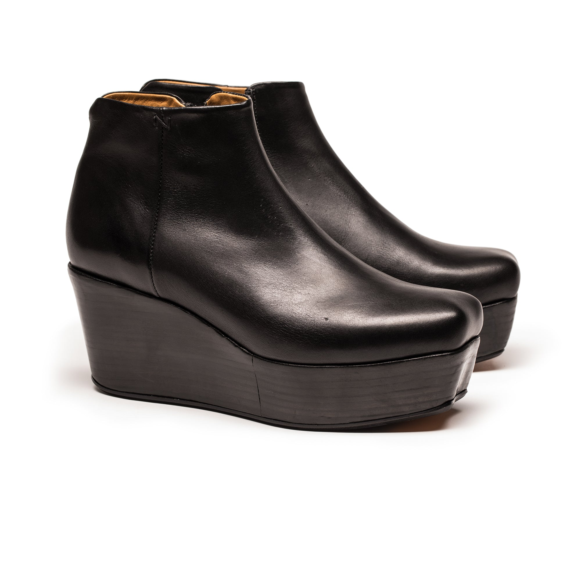 3c1d85be0ee ... A high platform wedge ankle boots in black