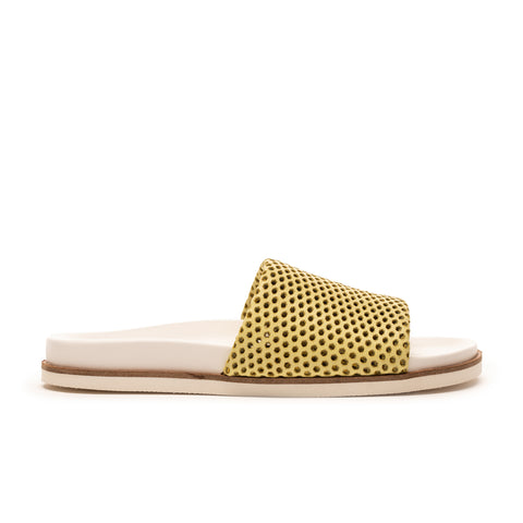 Brooke_Lime Perforated Leather_Sandal