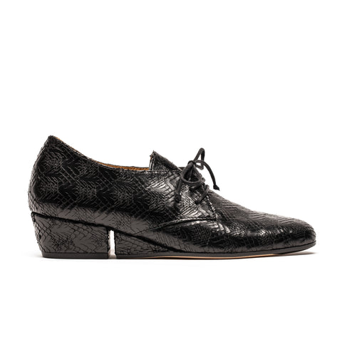 Christo Havana | Black Etched Leather Shoe | Tracey Neuls