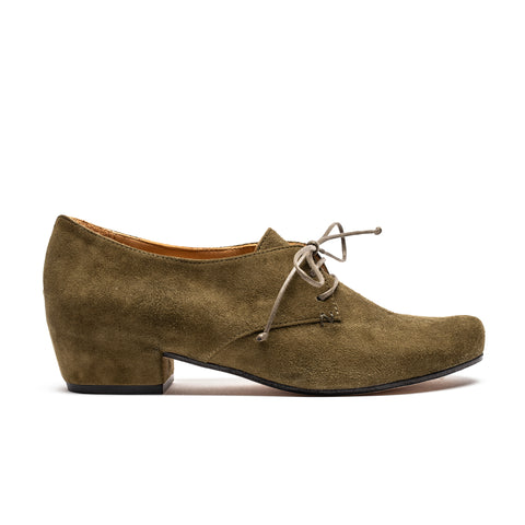 CUSCUS Army | Green Suede Leather Shoe