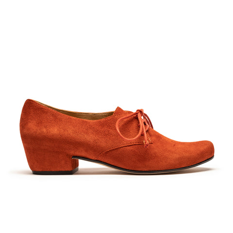 Tracey Neuls Cuscus Terracotta Suede Leather Orange Mid Heel
