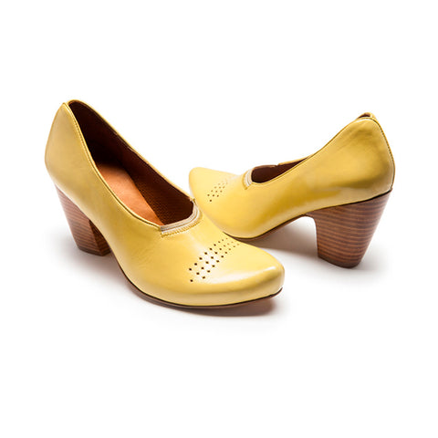 CARNITO Yellow | Leather Heels | Tracey Neuls