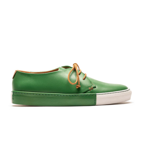 DALTON Green Grass Men's Leather Sneaker