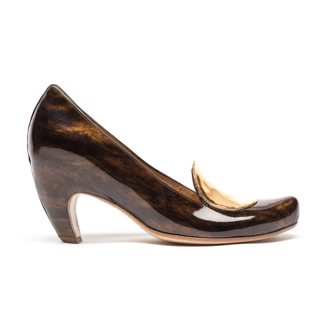 FULLSTOP Mahogany | Brown Patent Leather High Heel