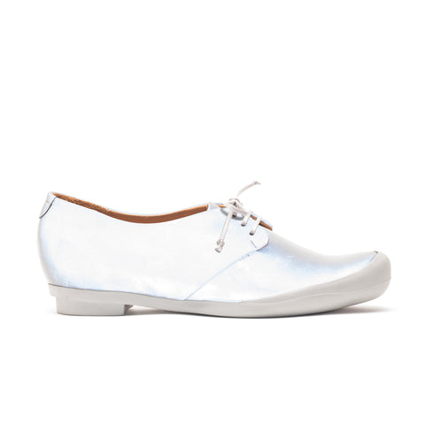 GEEK Grey Reflective | Silver Lace Up Shoe | Tracey Neuls