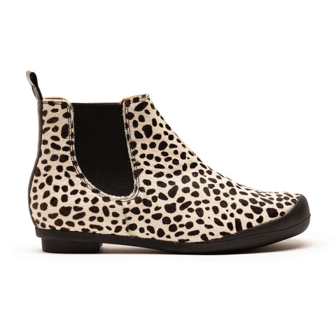 GEORGE SNOW LEOPARD | White and Black Chelsea Boot