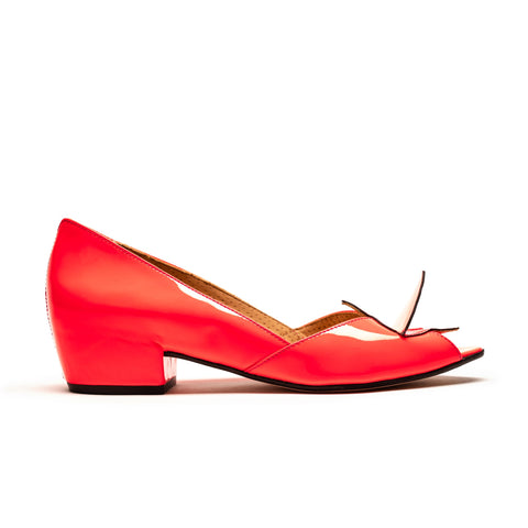 GORD Neon Red Patent Mid Heel by Tracey Neuls