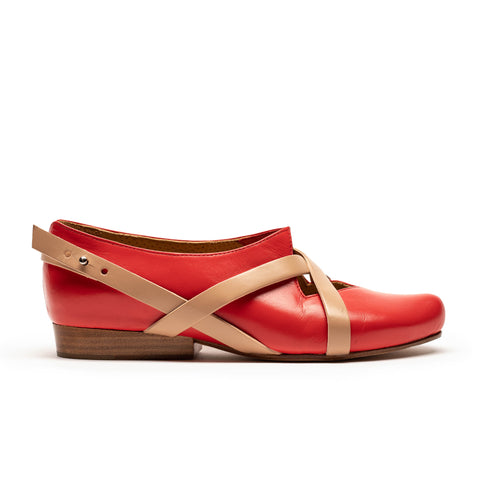 HANNAH Tomato | Red Leather Shoe