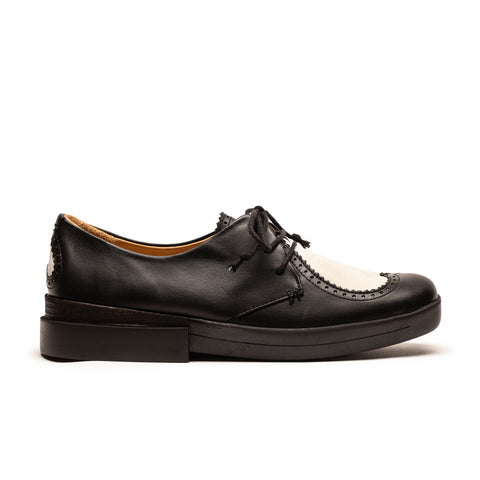 Tracey Neuls Heart Brogues Piano Black and White