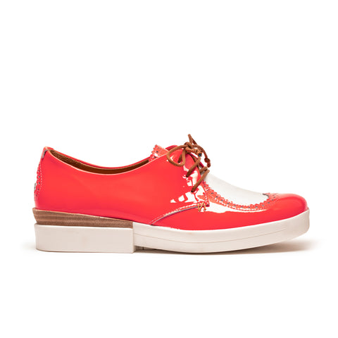 Tracey Neuls Heart Brogues Neon Pink