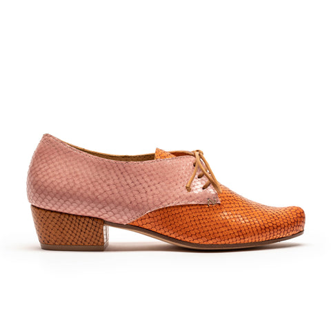 INES Leaves | Multi Colour & Textured Leather Shoe