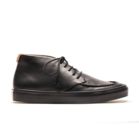 JAYCE Men's Lace-up Black Leather Shoe