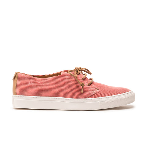 Pink corduroy luxury mens sneaker