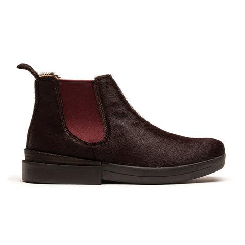 JON Port | Pony Burgundy Leather Chelsea Boot | Tracey Neuls