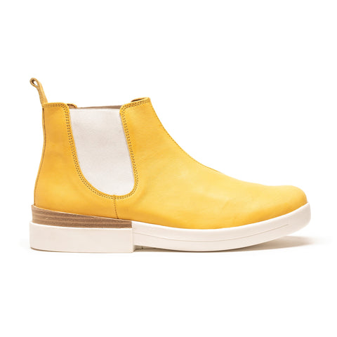 JON | Women's Yellow Leather Chelsea Boot | Tracey Neuls