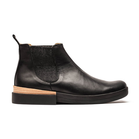 JON | Black Leather Chelsea Boot | Tracey Neuls