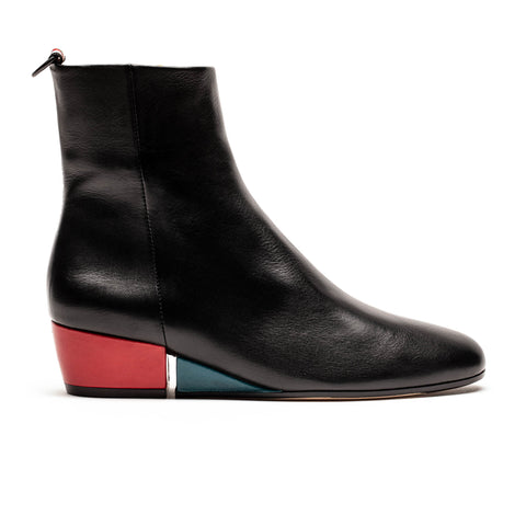 Judd Smoke | Black Leather Ankle Boots | Tracey Neuls