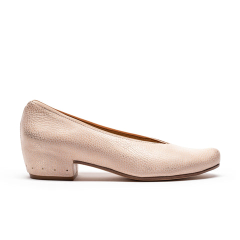 KEIRAN Seashell | Pink Leather Slip on Pump