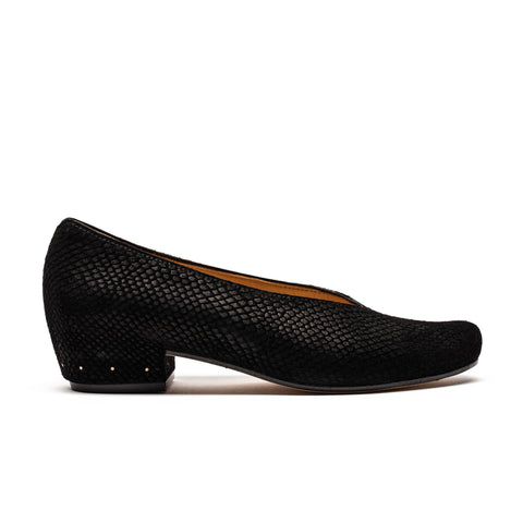 KEIRAN Black Snake | Slip on Pump | Tracey Neuls