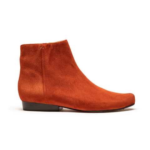LALA Terracotta | Orange Leather Ankle Boot | Tracey Neuls