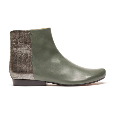 LALA Sage Shimmer Green Ankle Boots | Tracey Neuls