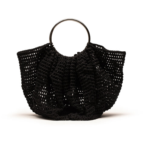 SILVER CROCHET Black | Crochet Bag