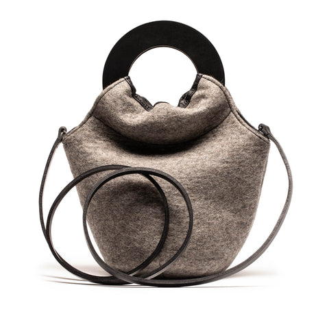 LOOPY BAG grey felt