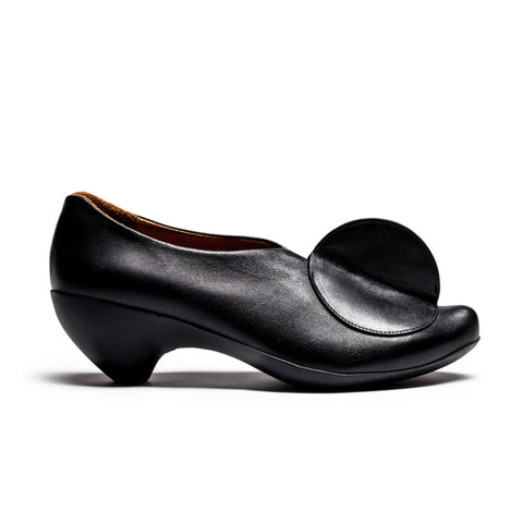 LOWTOP Black Women's Slip On Calf Mid-Heel by Tracey Neuls