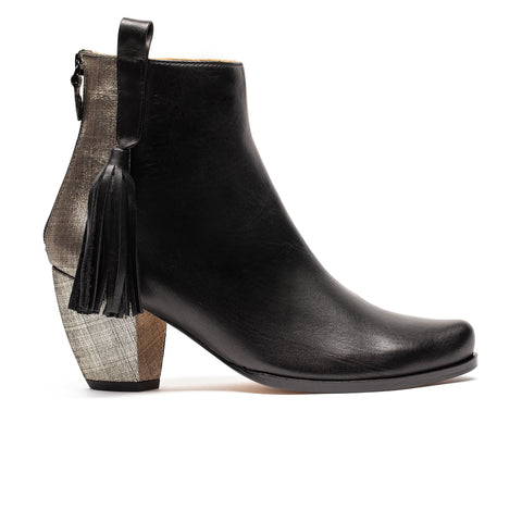 MANUELA Black Shimmer |  Ankle Boot