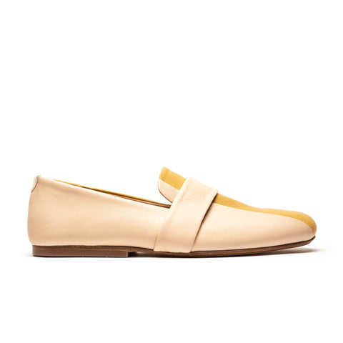 MONDRIAN Neutral | Natural n Wheat Leather Loafer | Tracey Neuls