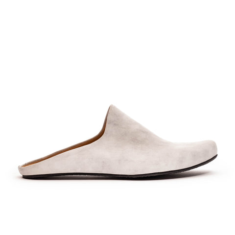 white leather mules by designer Tracey Neuls