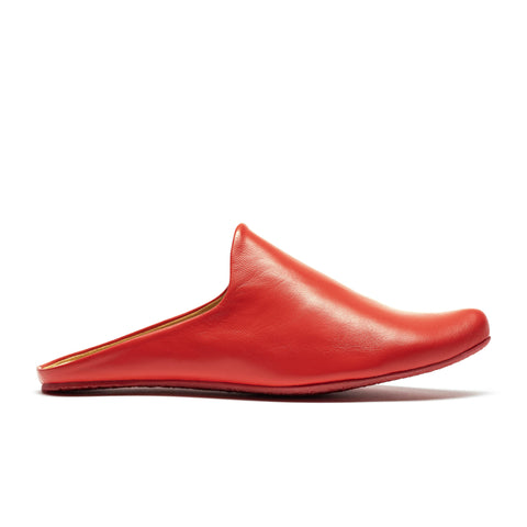 MULE red | Red Leather Slip-ons | Tracey Neuls