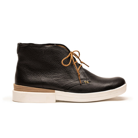 NEWMAN Piano | Black and White Leather Desert Boot | Tracey Neuls