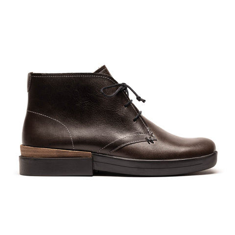 NEWMAN_Asphalt Grey Leather Black Sole_Lace Up Boot
