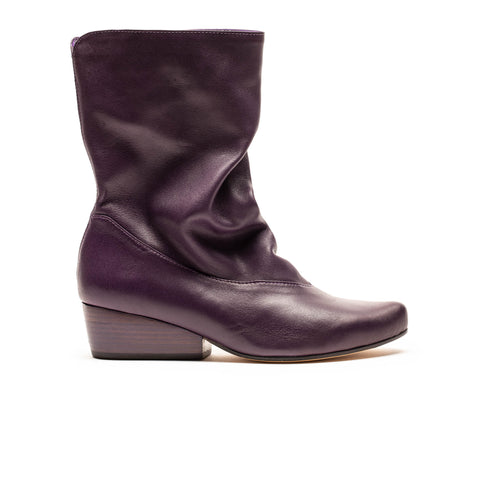 NINA Plum | Purple Leather Boots | Tracey Neuls
