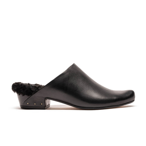 NORA | Black Leather Mule | Tracey Neuls
