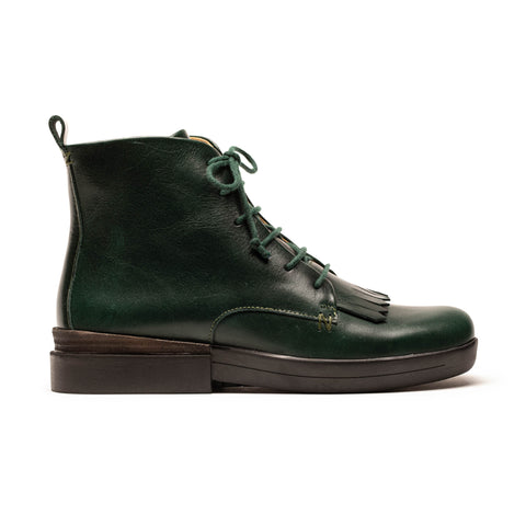 OLI_British Racing Green Leather_Roper Boot