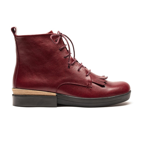 OLI Oxblood | Red Lace Up Boots | Tracey Neuls