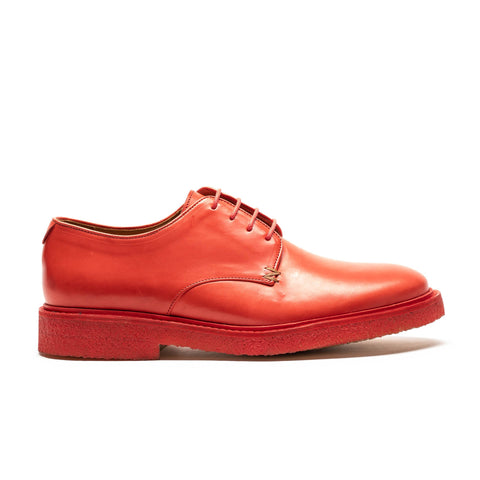 PABLO Paprika | Mens Red Crepe Sole Derby | Tracey Neuls