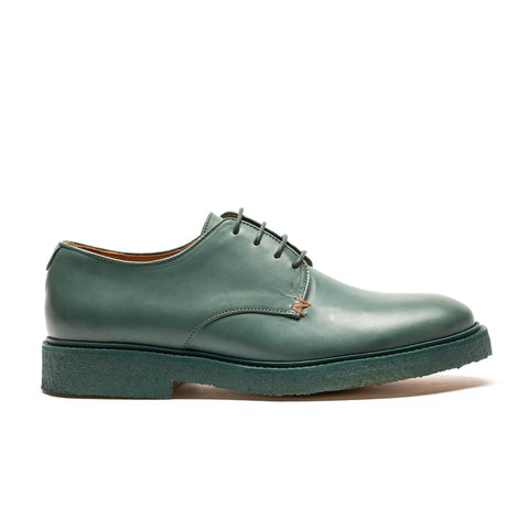 PABLO Sage | Mens Green Crepe Sole Derby | Tracey Neuls
