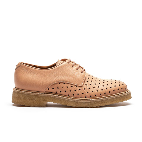 PABLO Plaster | Nude Crepe Sole Perforated Derby | Tracey Neuls