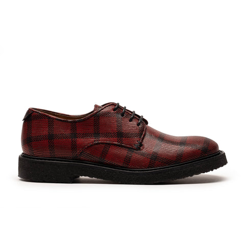 PABLO Tartan | Red Crepe Sole  Derby | Tracey Neuls