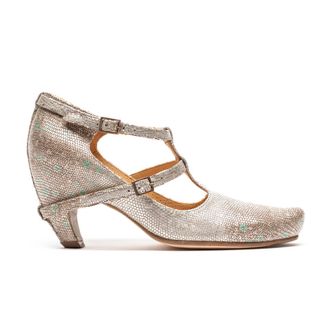 PENNY Apple Orchard | Silver Leather High Heels
